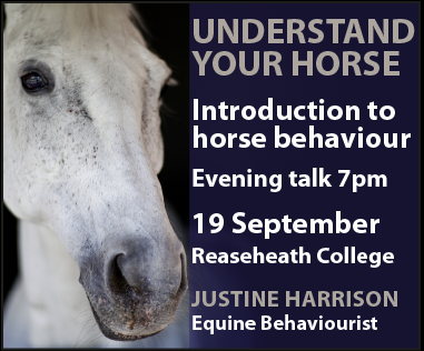 Justine Harrison Talk Reaseheath (Shropshire Horse)